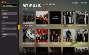 Boxee Beta Music Listing