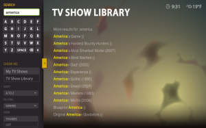 Boxee Beta TV Show Listing