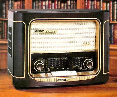 Vintage reproduction radio console